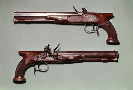 Wellington's duelling pistols: 19th century