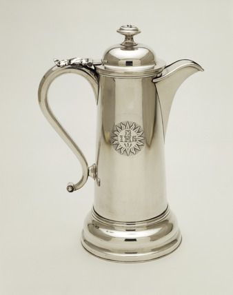 Silver-plate communion flagon: 1839