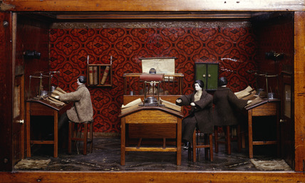 Model of two offices: 1858