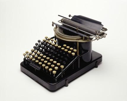 A Yost typewriter: 19th century