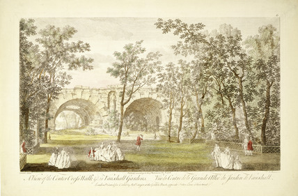View of the Center [sic] Cross Walk in Vauxhall Gardens: 1751