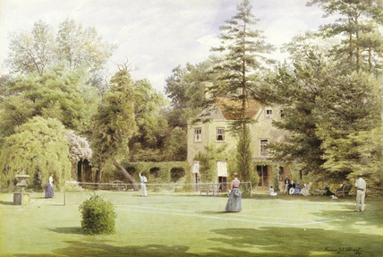 A Tennis Party at Burroughs Lodge, Hendon: 1887