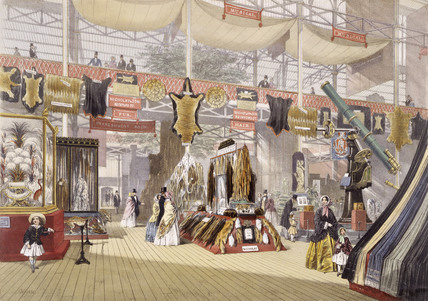 Display of furs at the Crystal Palace: 1851