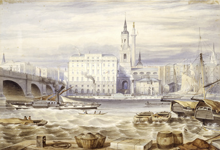 View of the Pool of London: 1840