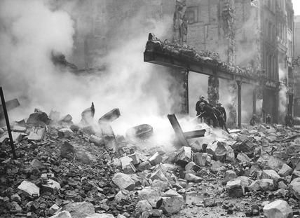 Bomb Damage at Newgate Street: 1940