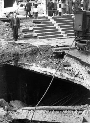 Bomb Damage at Upper Thames Street: 1940