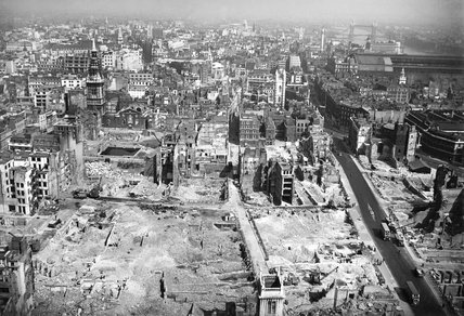 Bomb Damage from St. Paul's Cathedral looking East: 1941