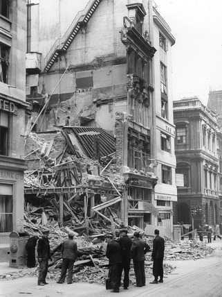 Bomb damage at 96 Cheapside: 1940