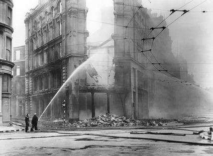 Bomb damage at No 7 Holborn Circus: 1941