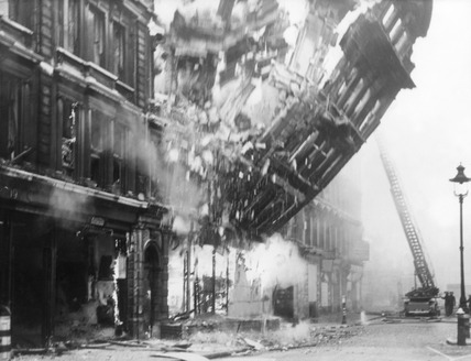 Bomb Damage at number 21 Queen Victoria street: 1941