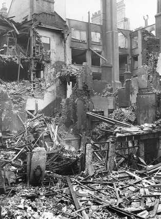 Bomb Damage at Lime Street: 1941