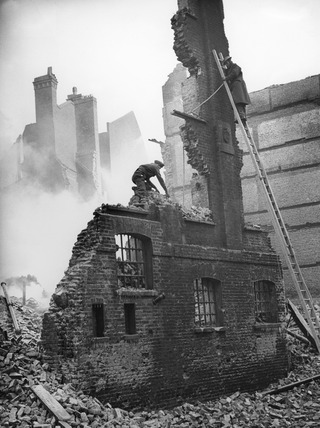 Bomb Damage at Lower Thames Street: 1940