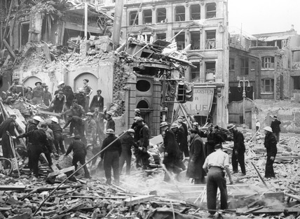 Bomb Damage at 79-81 Aldersgate Street: 1944