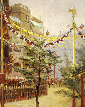 Queen Victoria's Diamond Jubilee: A View of the Processional Route from Borough Road: 1897