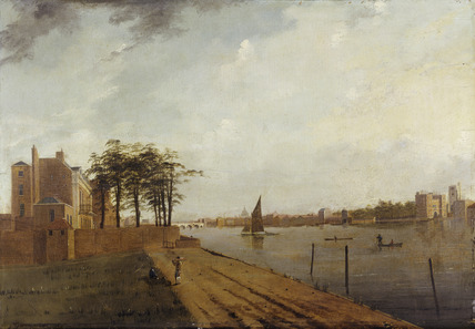 Lambeth Palace from Millbank: 1808