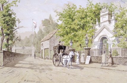 The Waterside Entrance to Cremorne Gardens: 19th century