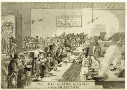The Public Soup Kitchen; A Plea for the Poor: 1858