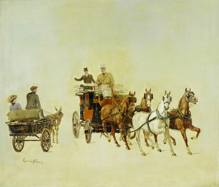 A Donkey Cart and Stage Coach at Olympia: late 18th-early 19th century