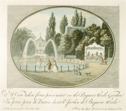 A View taken from Peace Water in the Bagnigge Wells Gardens: 18th-19th century