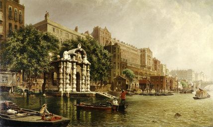 York Water Gate and the Adelphi from the River: 1872
