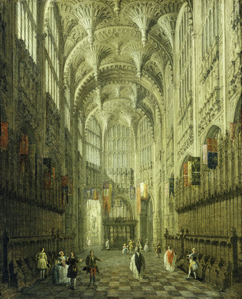 Interior of Henry VII's Chapel, Westminster Abbey: 1753