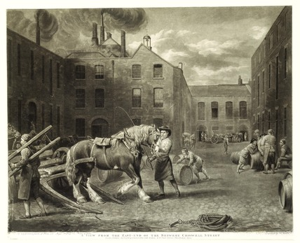 A View from the East-End of the Brewery Chiswell Street: 1792