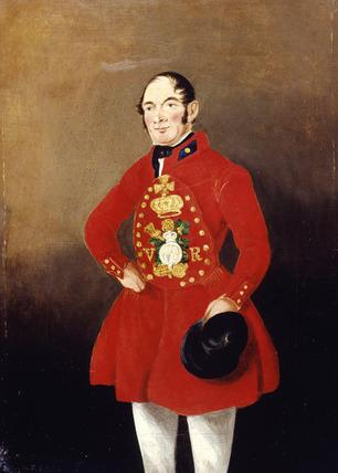 Portrait of a Royal Bargeman: 1843