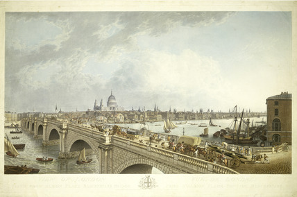 View of London taken from Albion Place Blackfryars Bridge: 1802