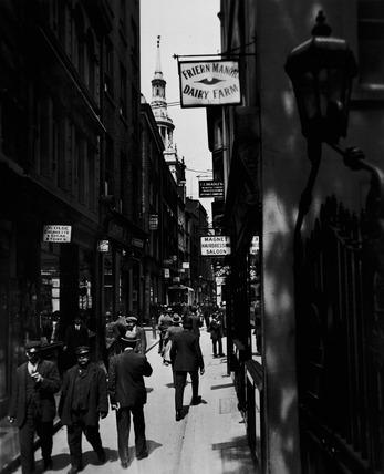 Bow Lane, looking north: 20th century