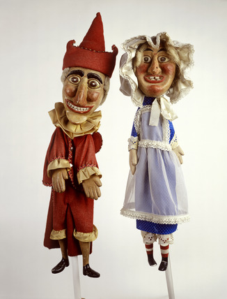 Punch and Judy hand puppets: 20th century