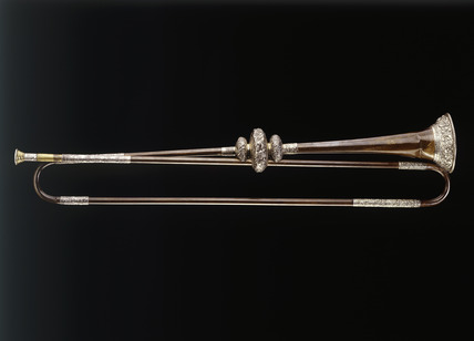 Bronze and silver trumpet: 17th century