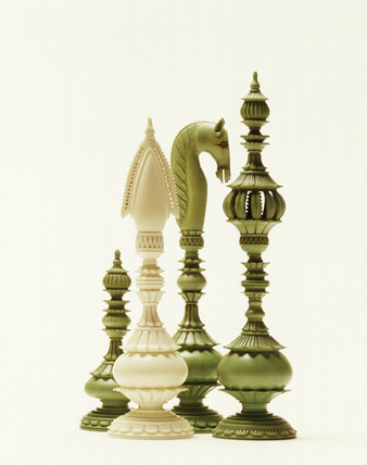 Ivory chessmen: 19th century