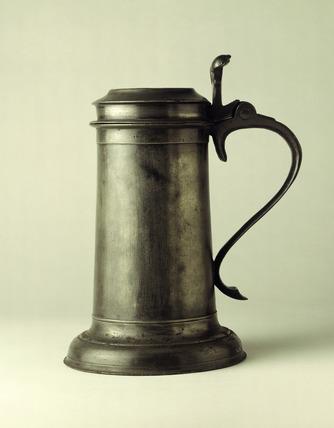 Pewter flagon: 17th century