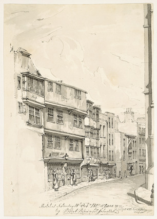 General view down Leadenhall Street: 1817