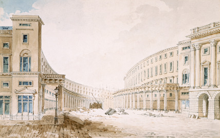 View of Regent Street Quadrant: 19th century