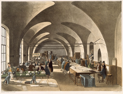 Stamp Office at the Somerset House: 1809