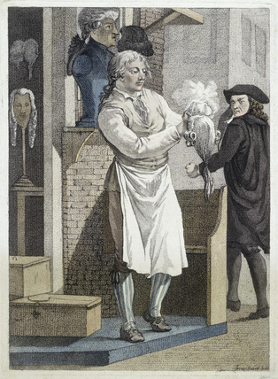 A wig shop: 1775
