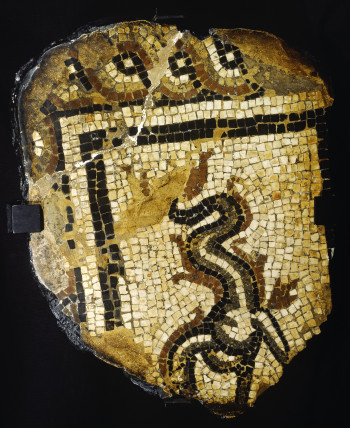 Fragment of a roman mosaic