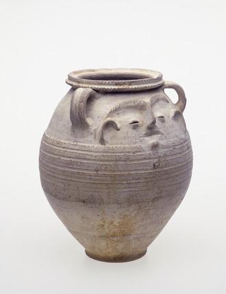 Roman face pot