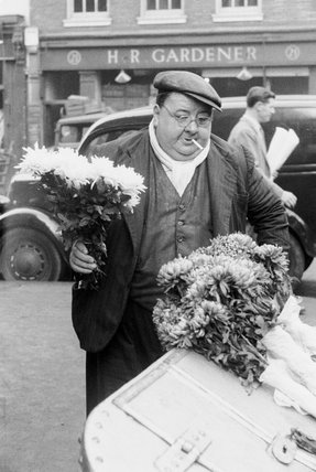 A flower stall at Covent Garden: 20th century