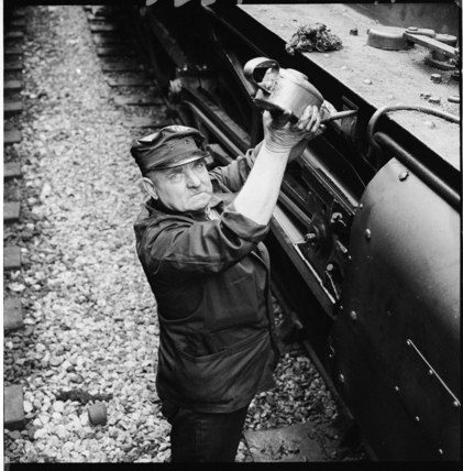 A train engine driver, Paddington Station: 1962
