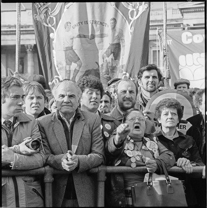 Trades union demonstrators, Trafalgar Square: 1980