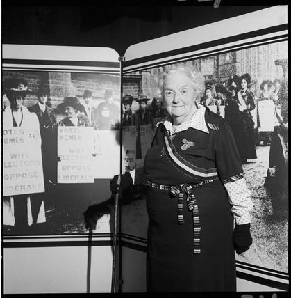 Former suffragette, Connie Lewcock: 1978