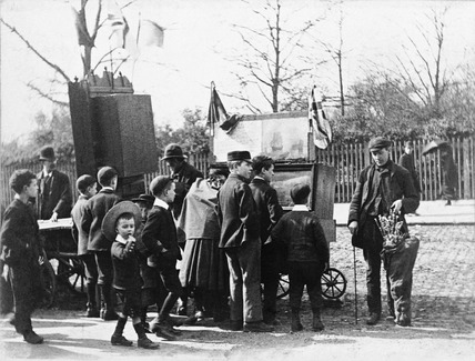 A peepshow at the fair: 1893