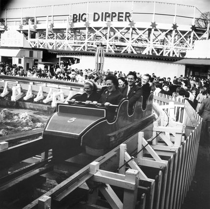 The Big Dipper at Battersea Park Funfair: 1966