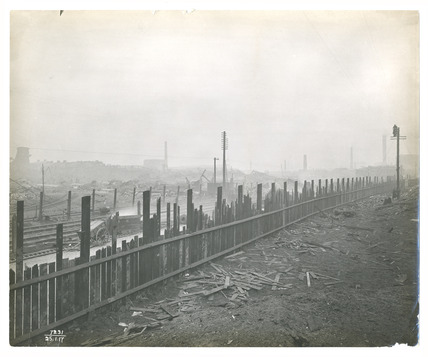 A landscape after the Silvertown Explosion: 1917
