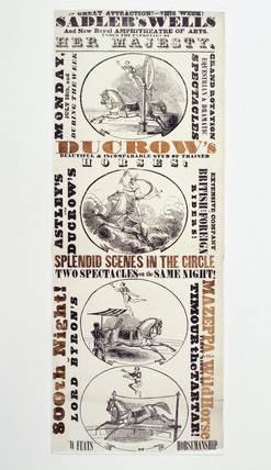 Playbill for Ducrow's horse show at Sadler's Wells: 1832
