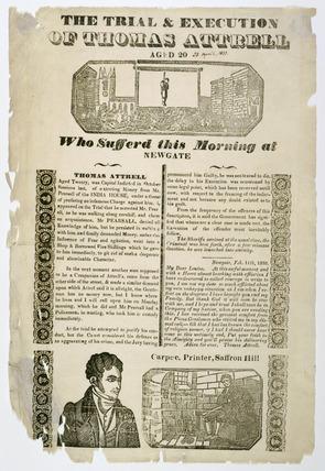Criminal broadsheet: 1833