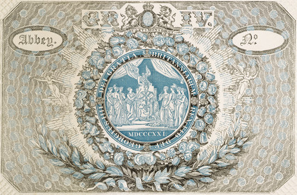 Admission ticket to the Coronation of King George IV: 1821
