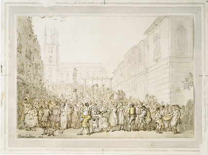An execution outside Newgate Prison: 1806